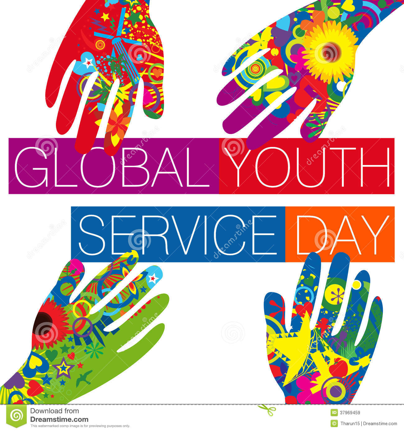Global Youth Service Day Royalty Free Stock Images Image
