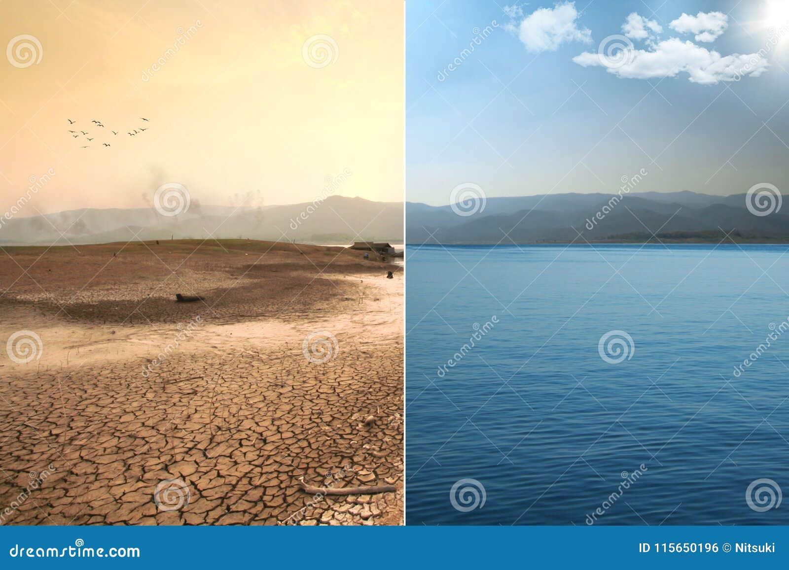 Globale Erwärmung und Klimawandelauswirkung