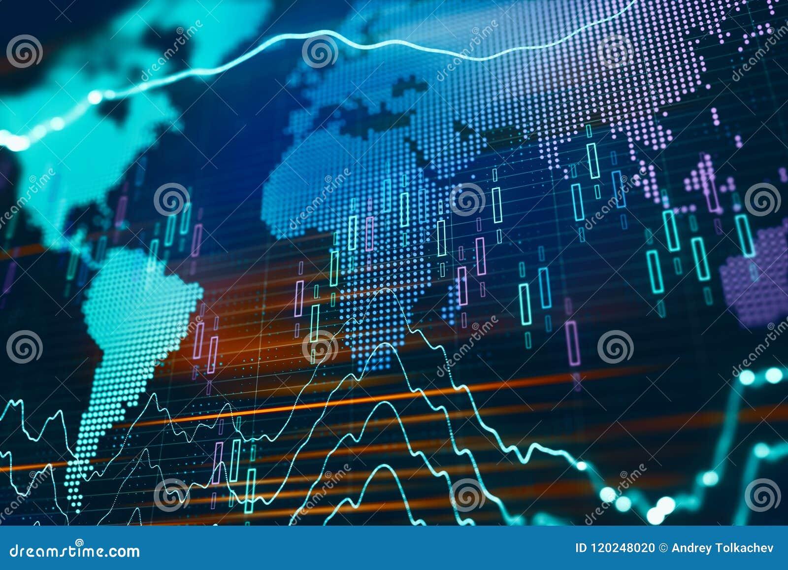 Globale financiële grafiek