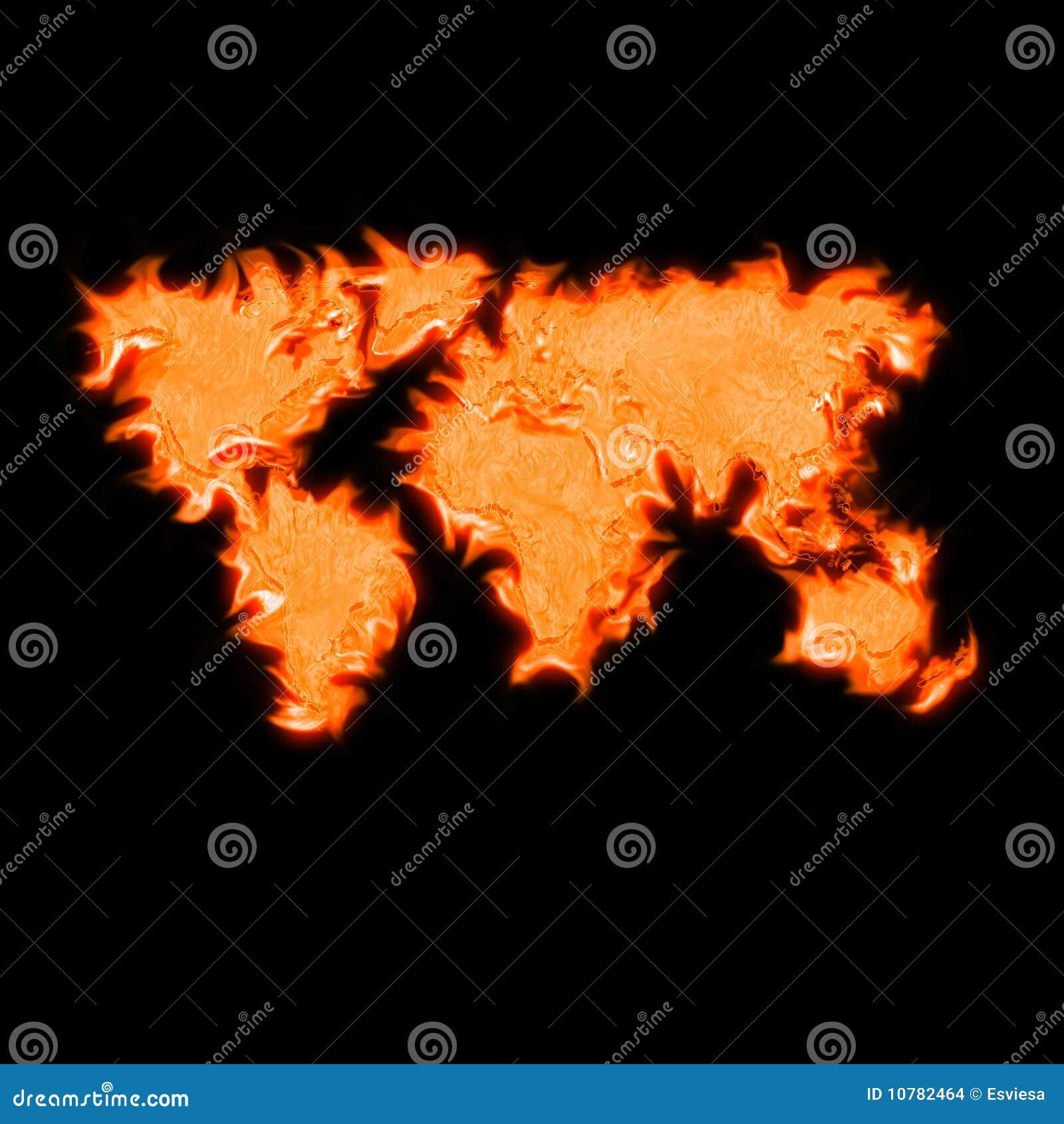 Globale kaart van de wereld