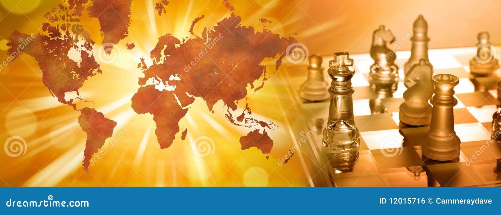 Globales Geschäftsstrategie-Schach