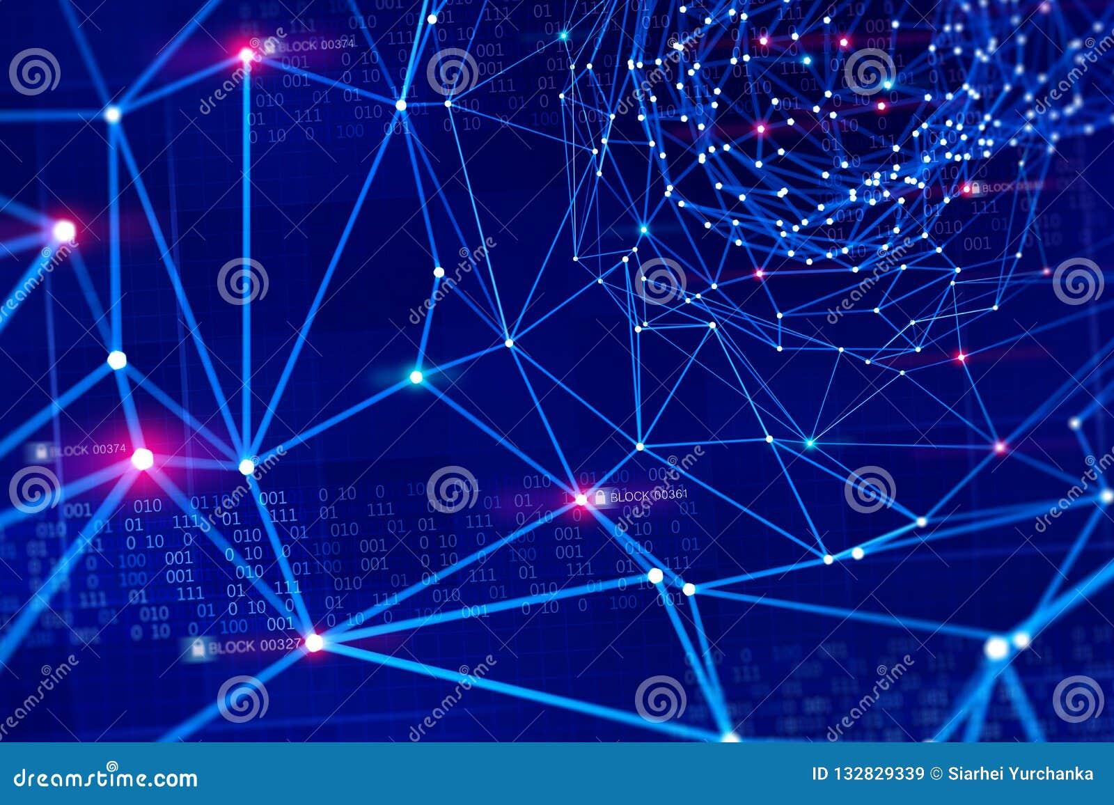 Globalna ewidencyjna sieć Ochrona i magazyn cyfrowi dane używać blockchain technologię Sztuczna inteligencja opierająca się