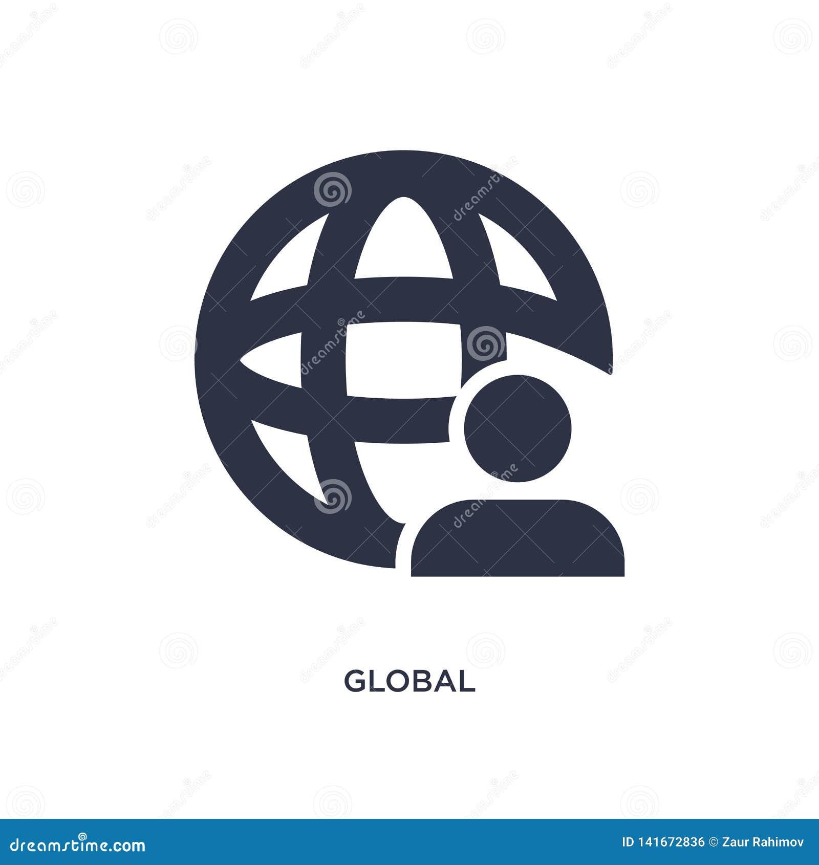 Globalna ikona na białym tle Prosta element ilustracja od strategii pojęcia