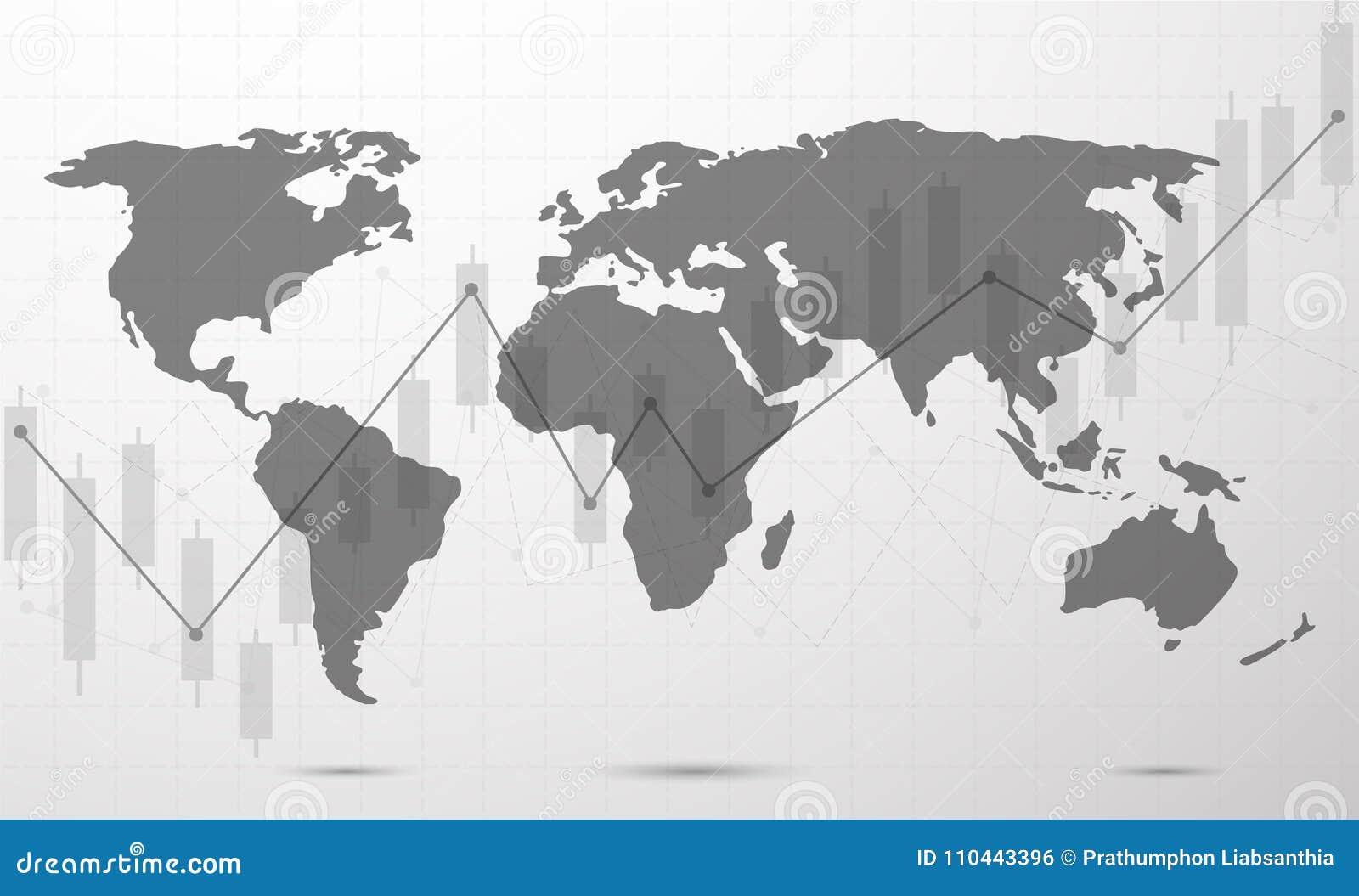 Globalnej sieci związek Światowej mapy linia i punkt