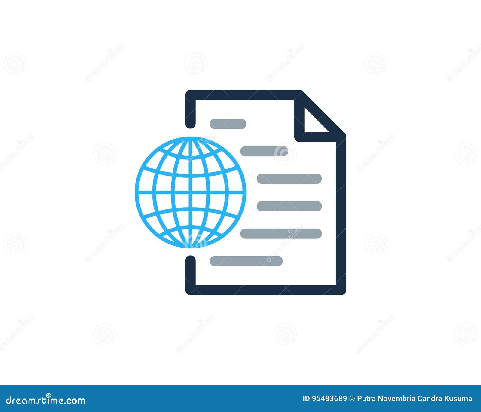 Globalny Międzynarodowy dokument ikony loga projekta element