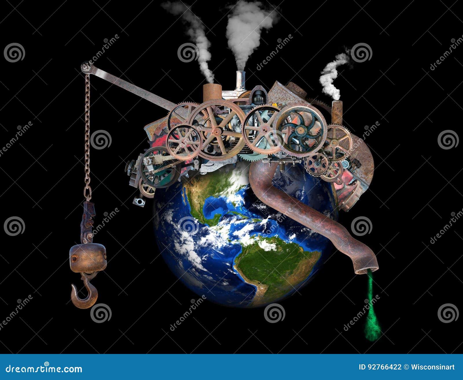 Globalny nagrzanie, zmiana klimatu, zanieczyszczenie