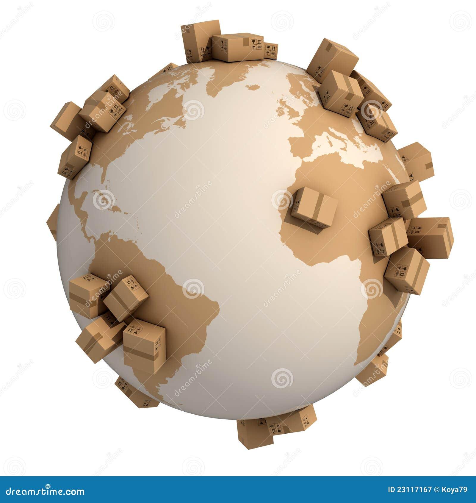 Globalt begrepp för sändning 3d