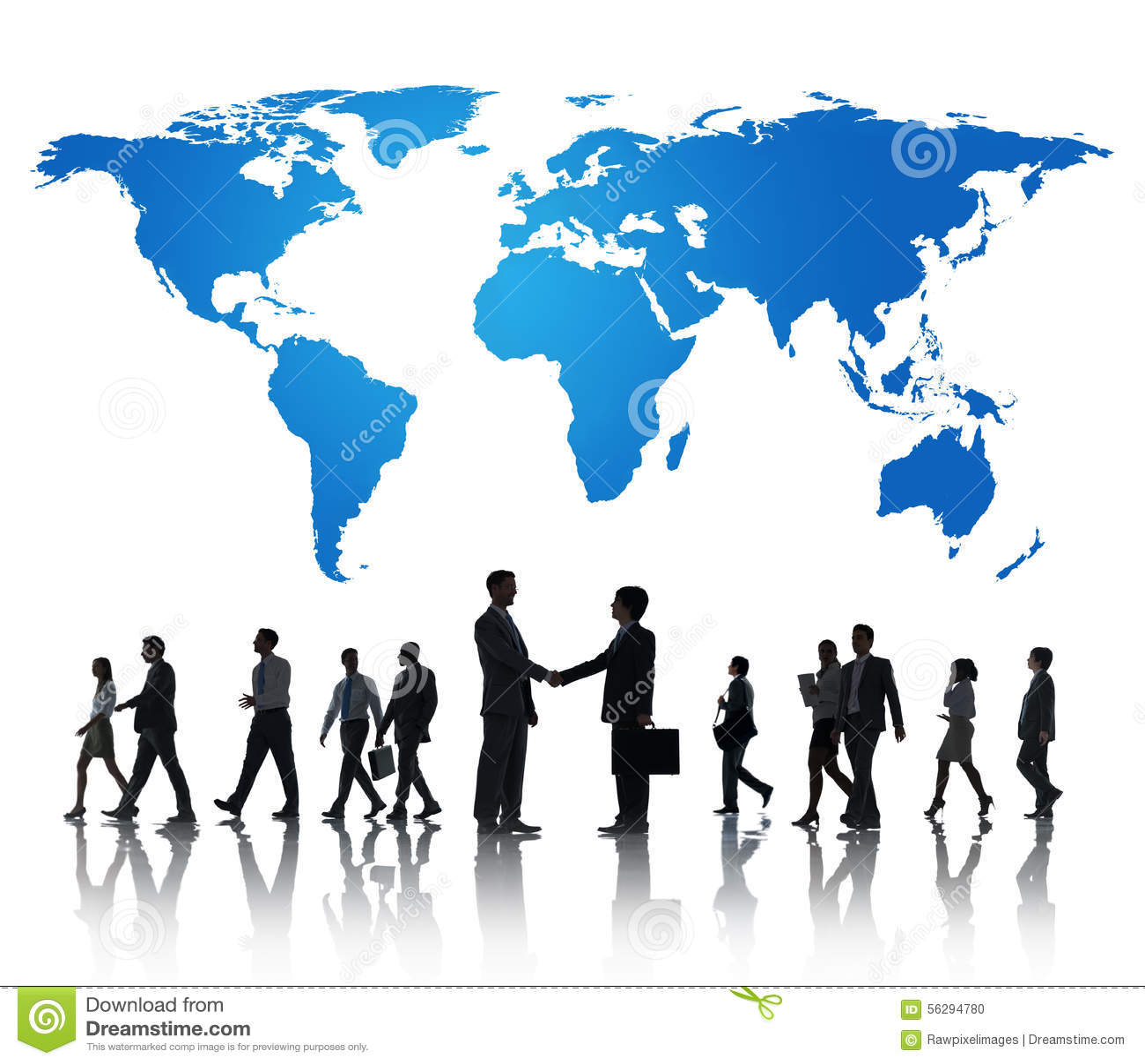 Globalt internationellt begrepp för affärssamarbetssamarbete