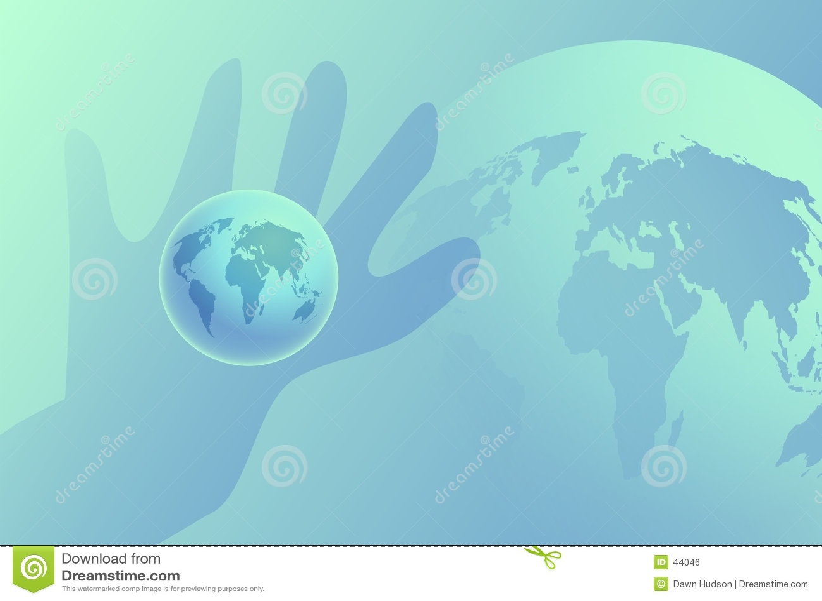 Globe à disposition