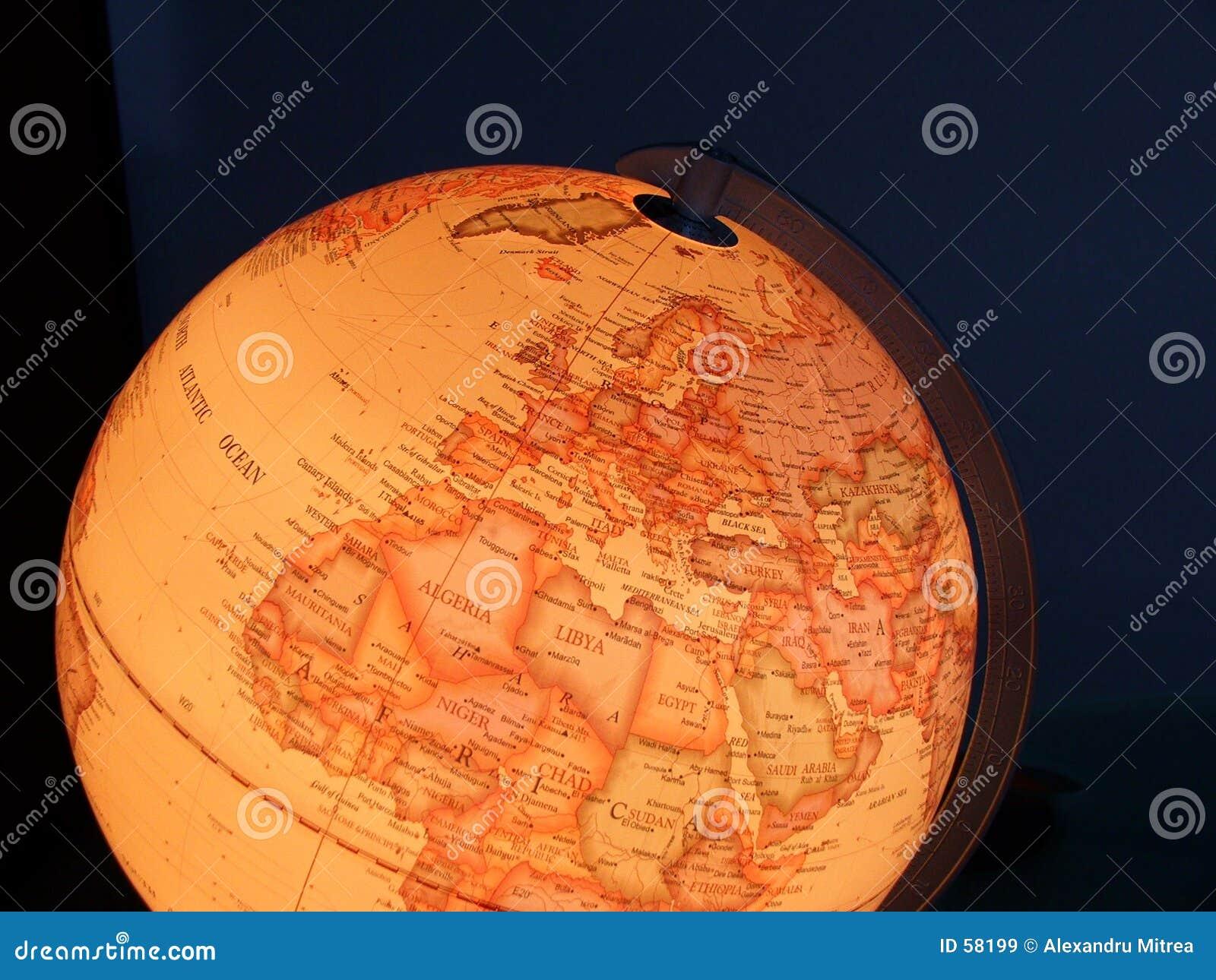 Globe allumé