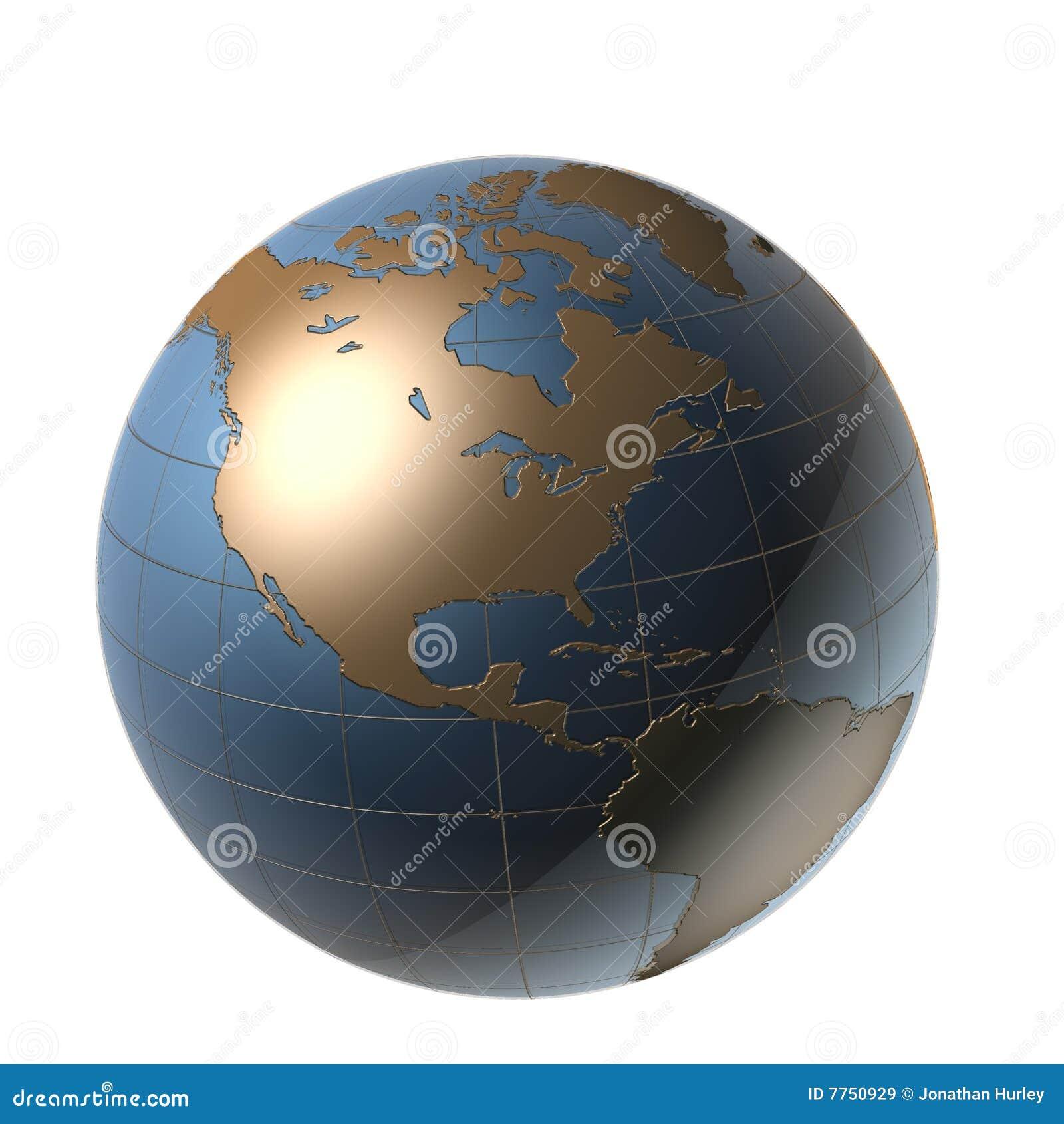 Globe Amérique de Digitals