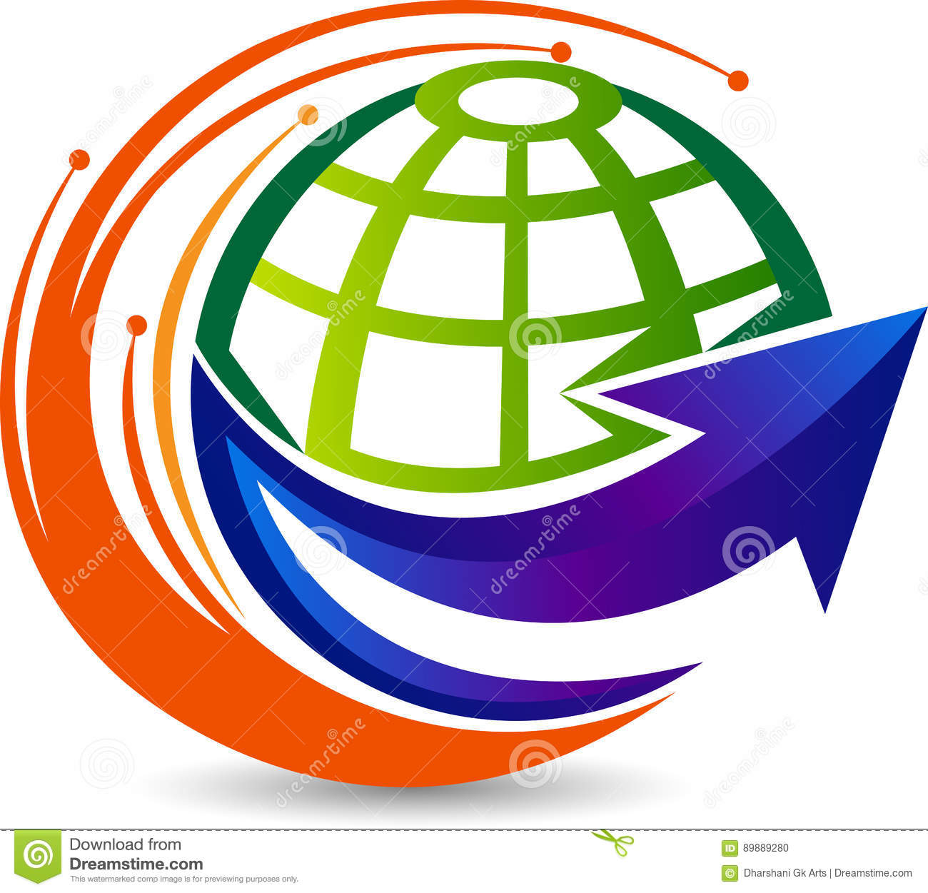 Globe arrow logo