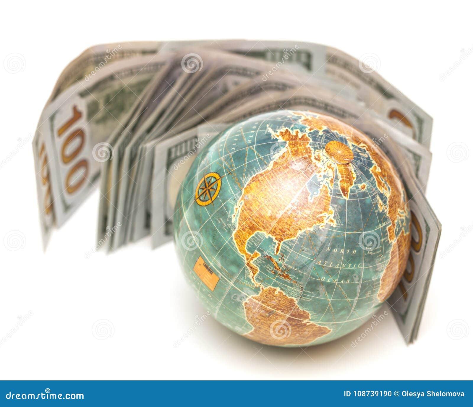 Globe avec de l argent