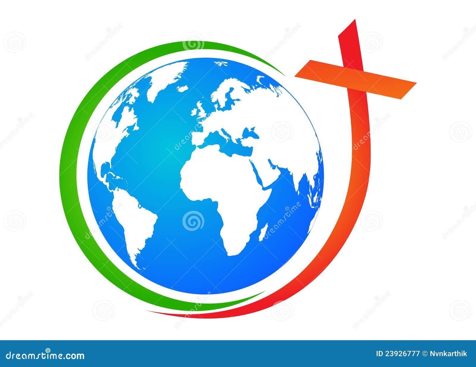 Globe avec la croix