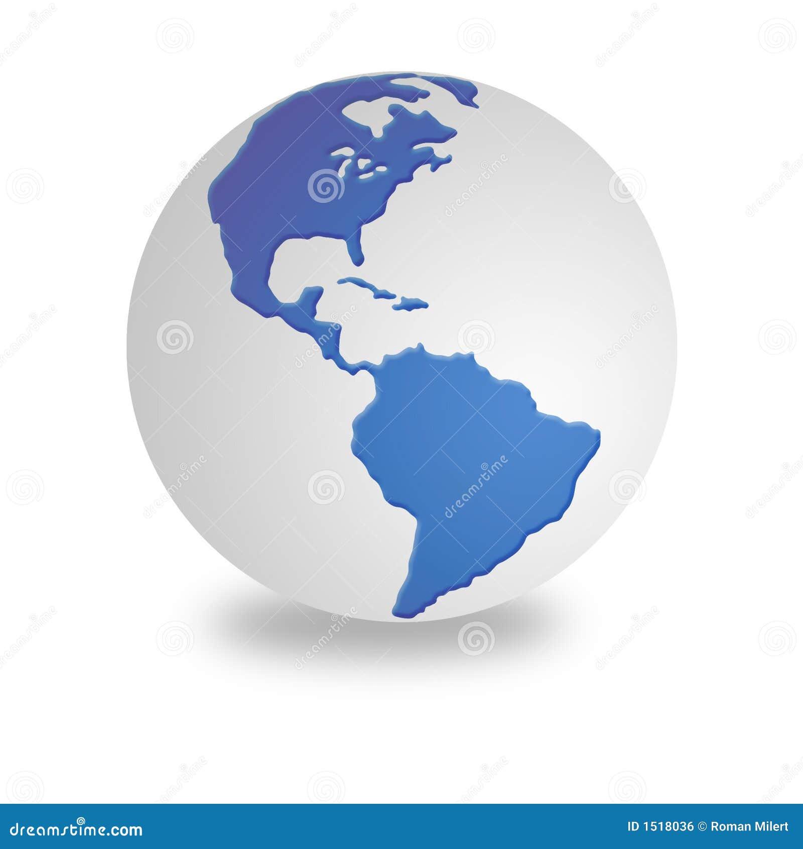 Globe blanc et bleu du monde image libre de droits image 1518036 - Globe maison du monde ...