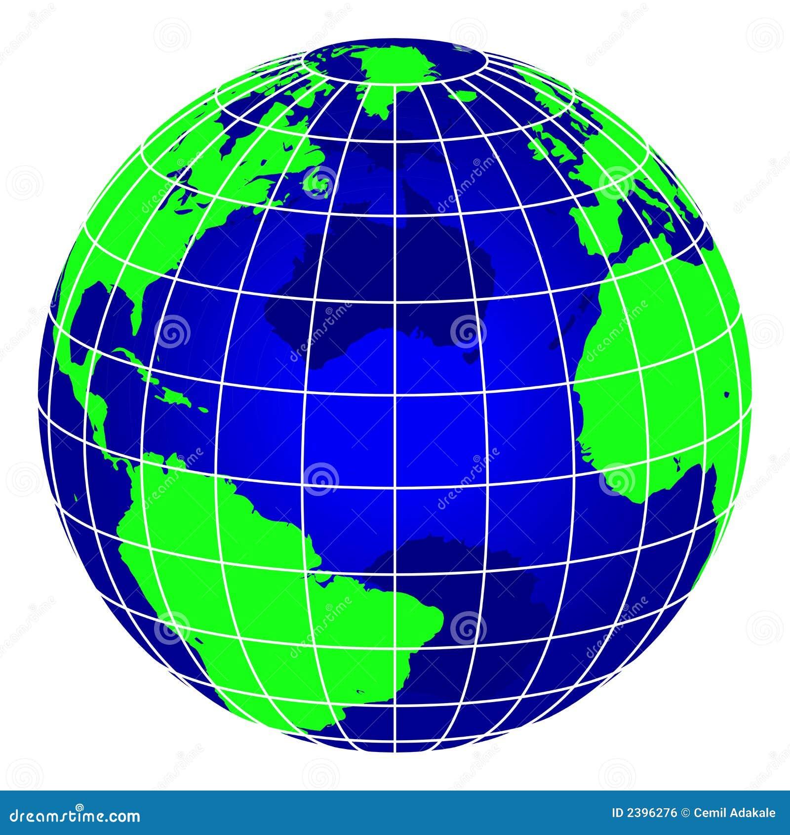 Globe bleu du monde de piste