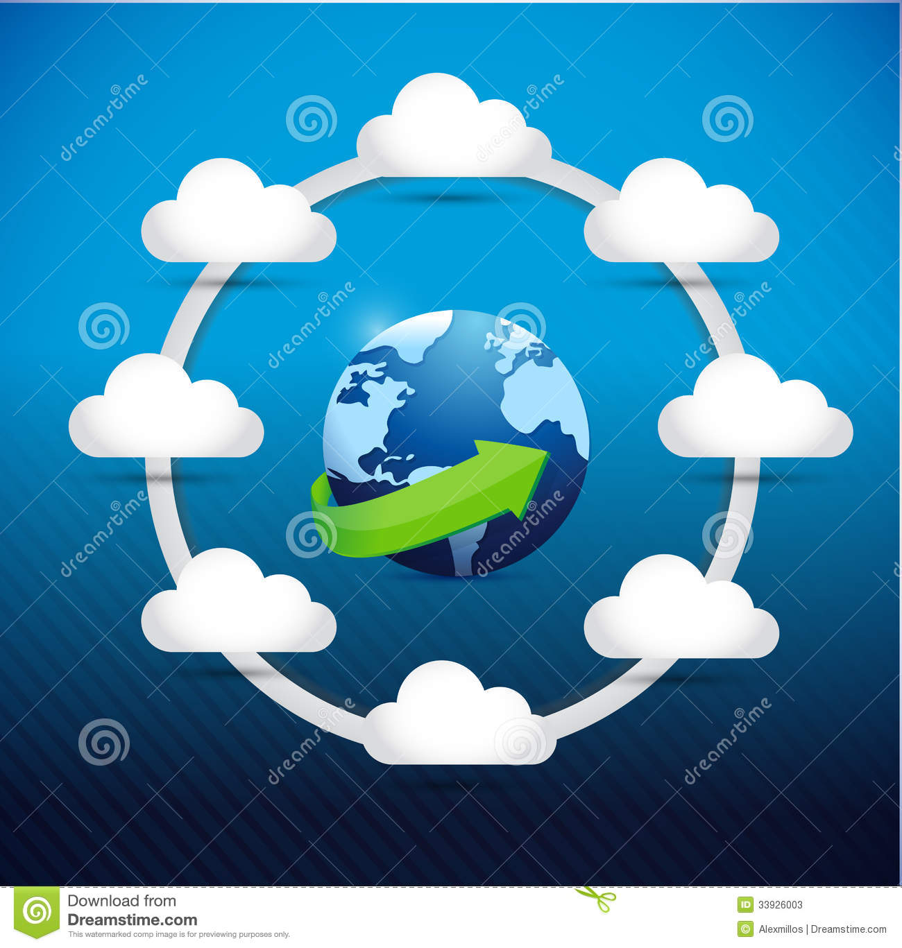 Globe Cloud Computing Network Diagram Concept Stock Photos - Image ...