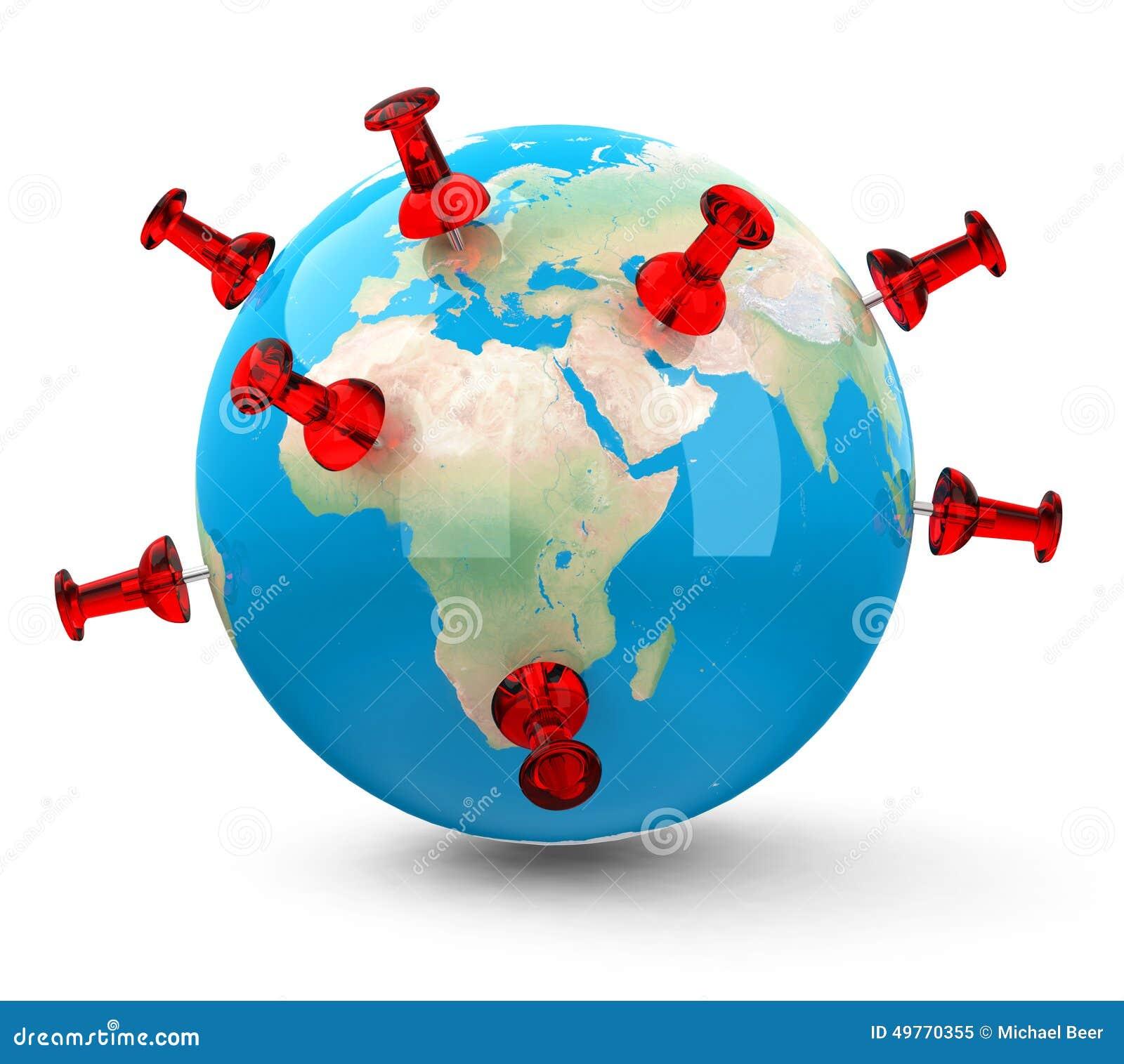 The Globe Stock Illustration Image 49770355