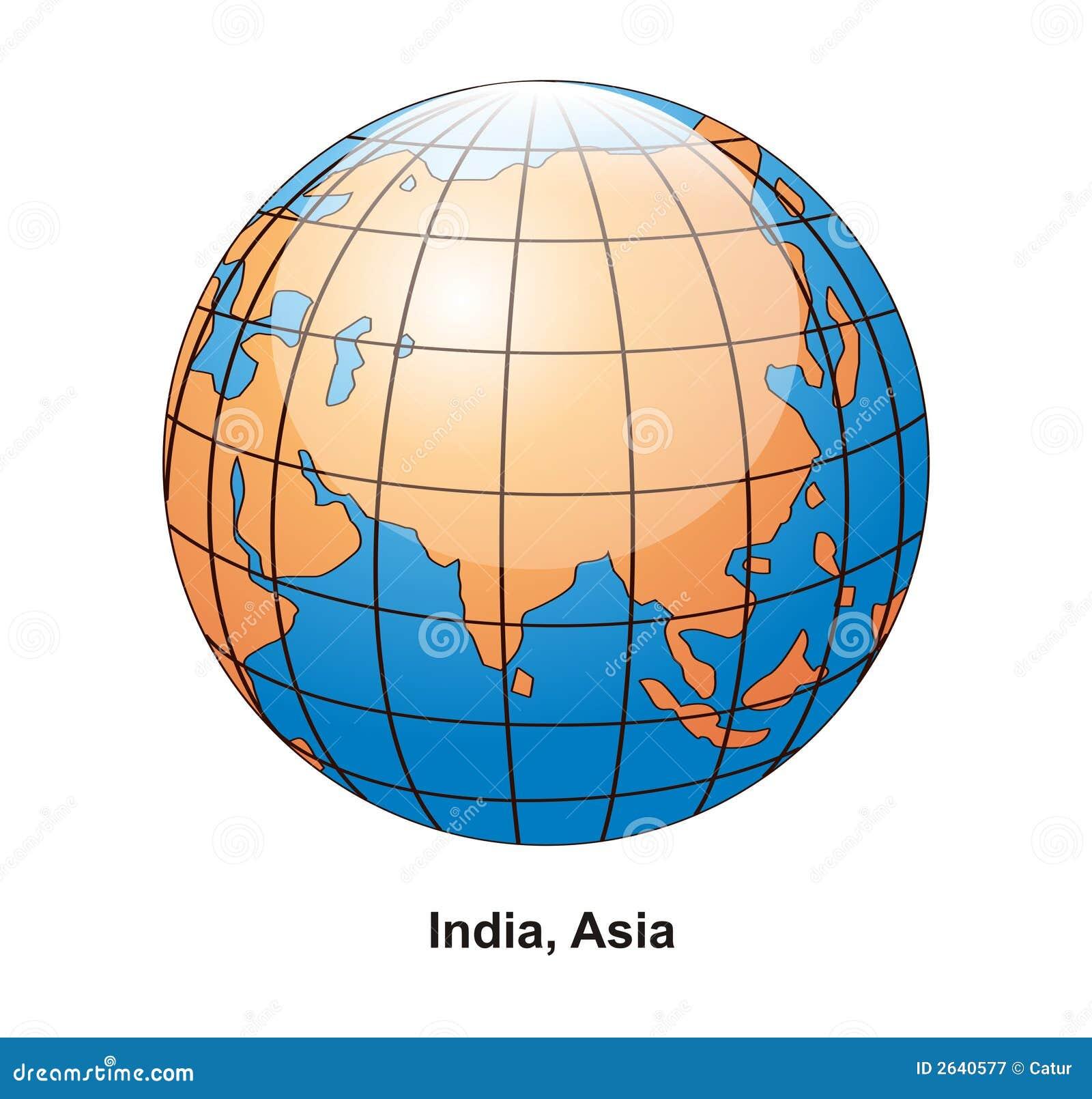 Globe de l Inde et de l Asie