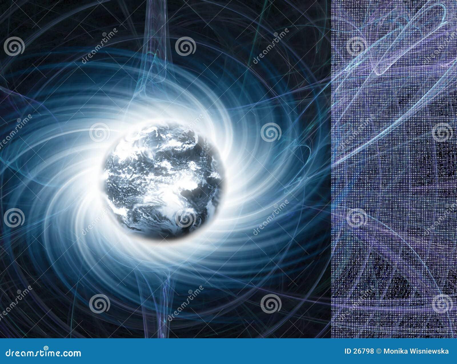 Globe de la terre - énergie magnétique