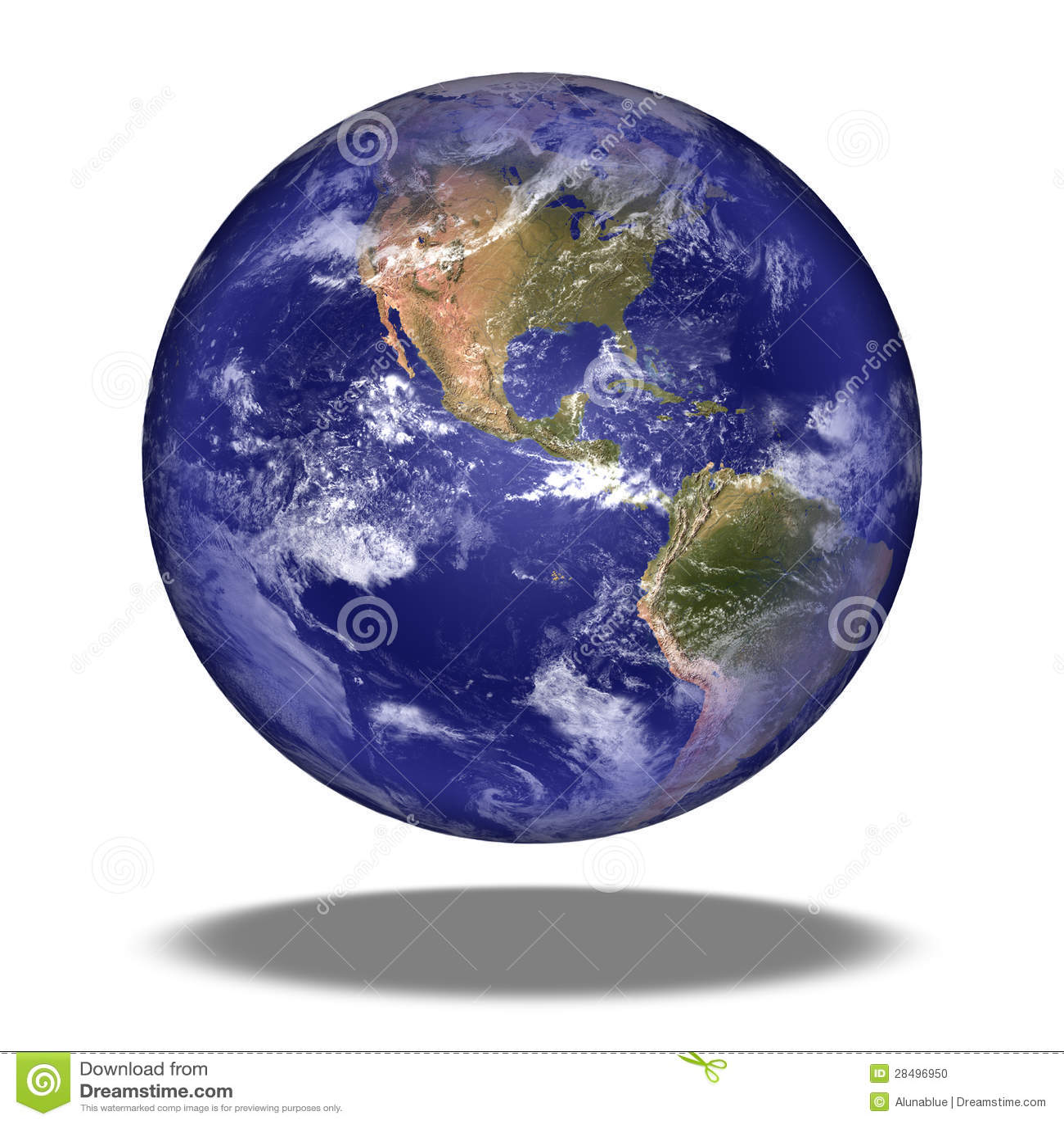 Globe de la terre : Vue de l Amérique du Nord.
