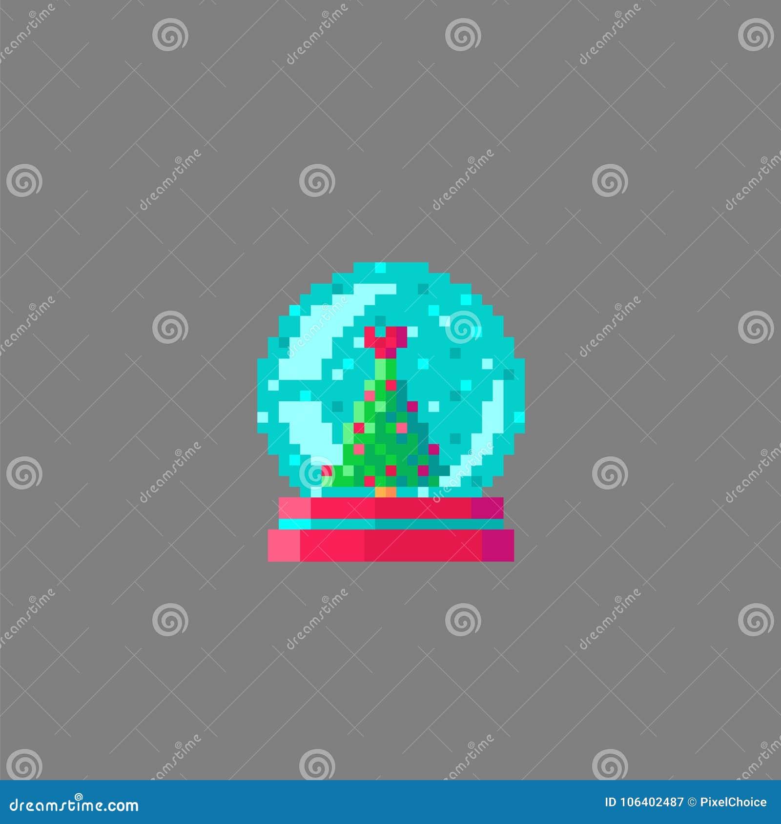 Globe De Neige D Art De Pixel Illustration De Vecteur Illustration