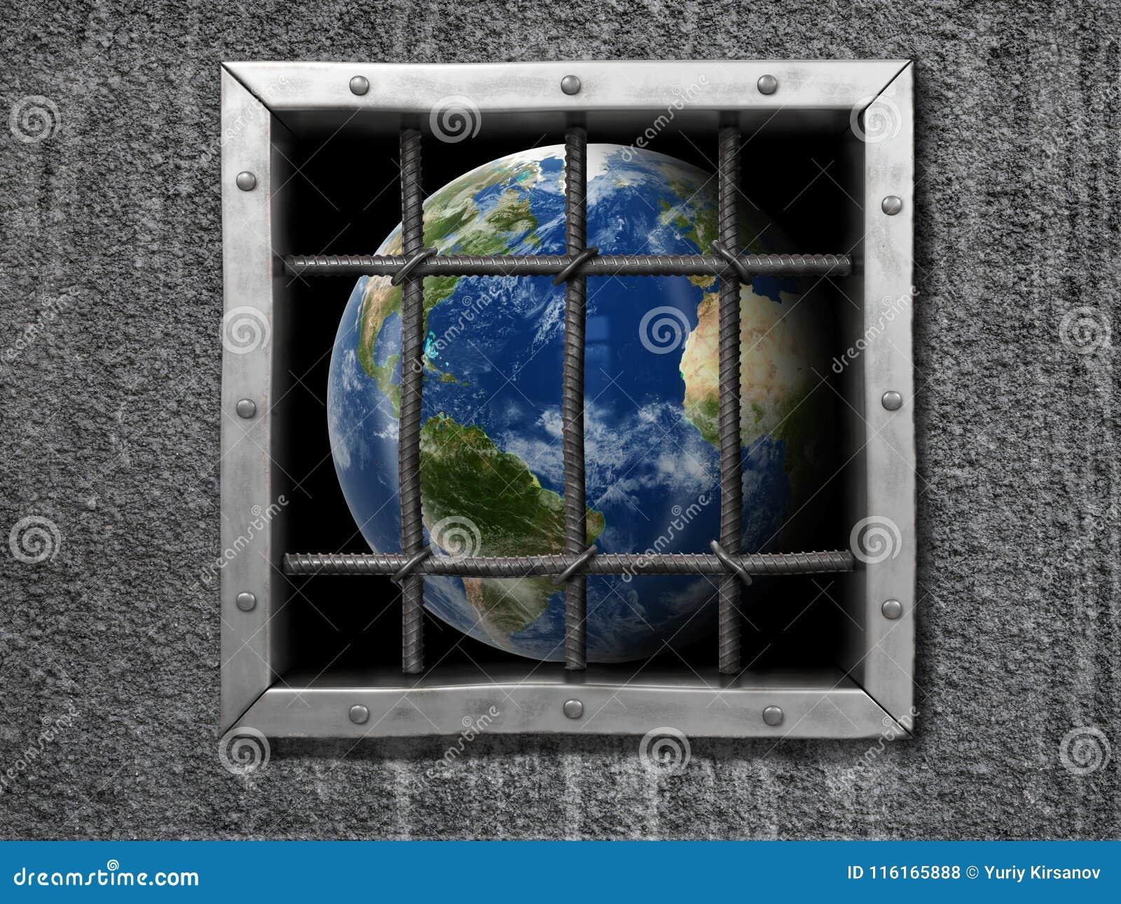 Globe derrière la barrière