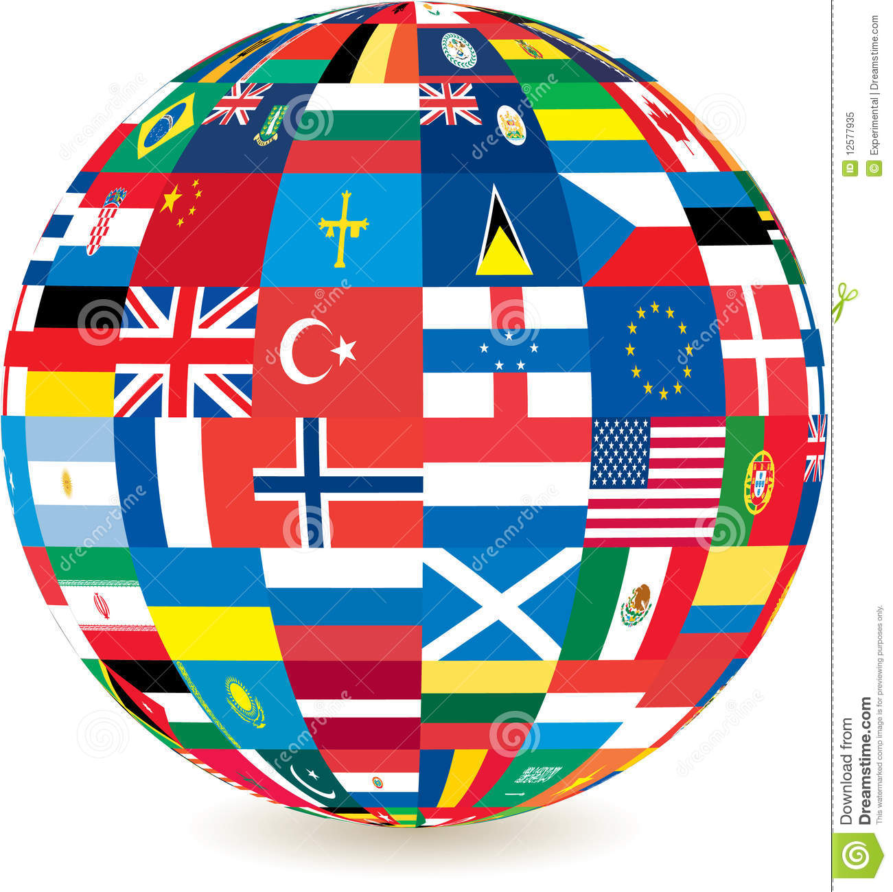 Globe des indicateurs de pays du monde photo libre de droits image 12577935 - Globe maison du monde ...