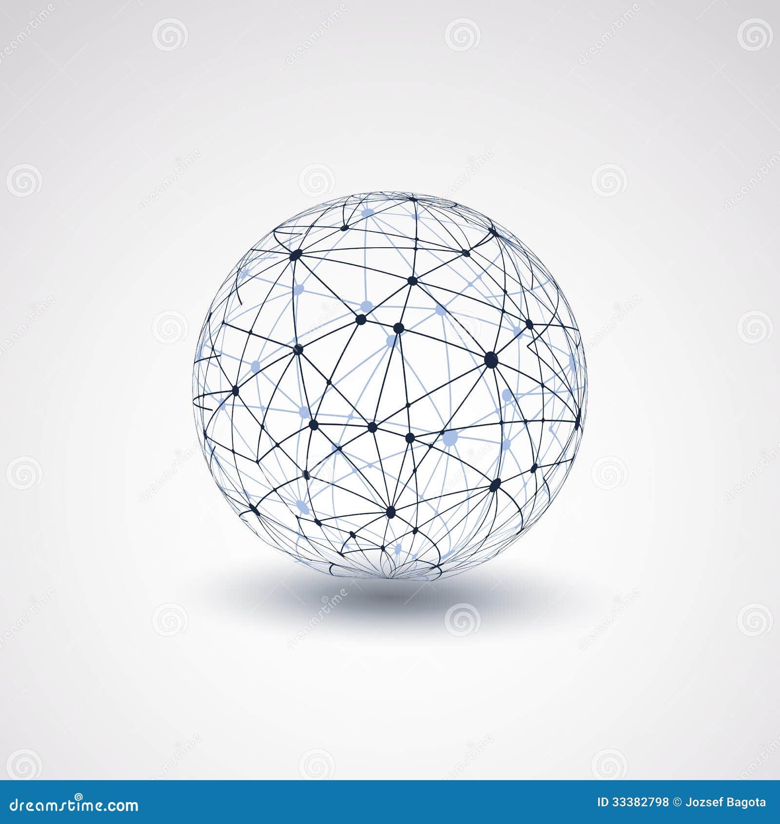 Globe Design Networks Royalty Free Stock Photos Image