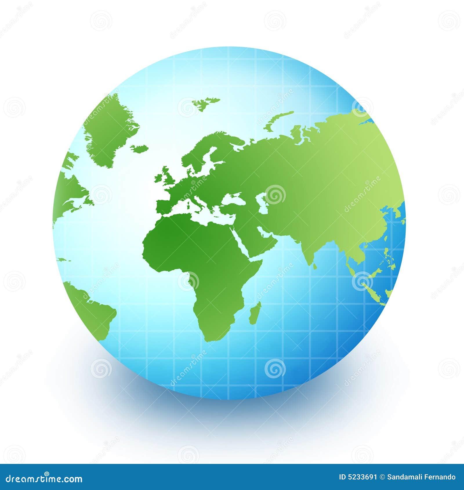 Globe du monde afrique l 39 europe et asie image stock image 5233691 - Globe maison du monde ...