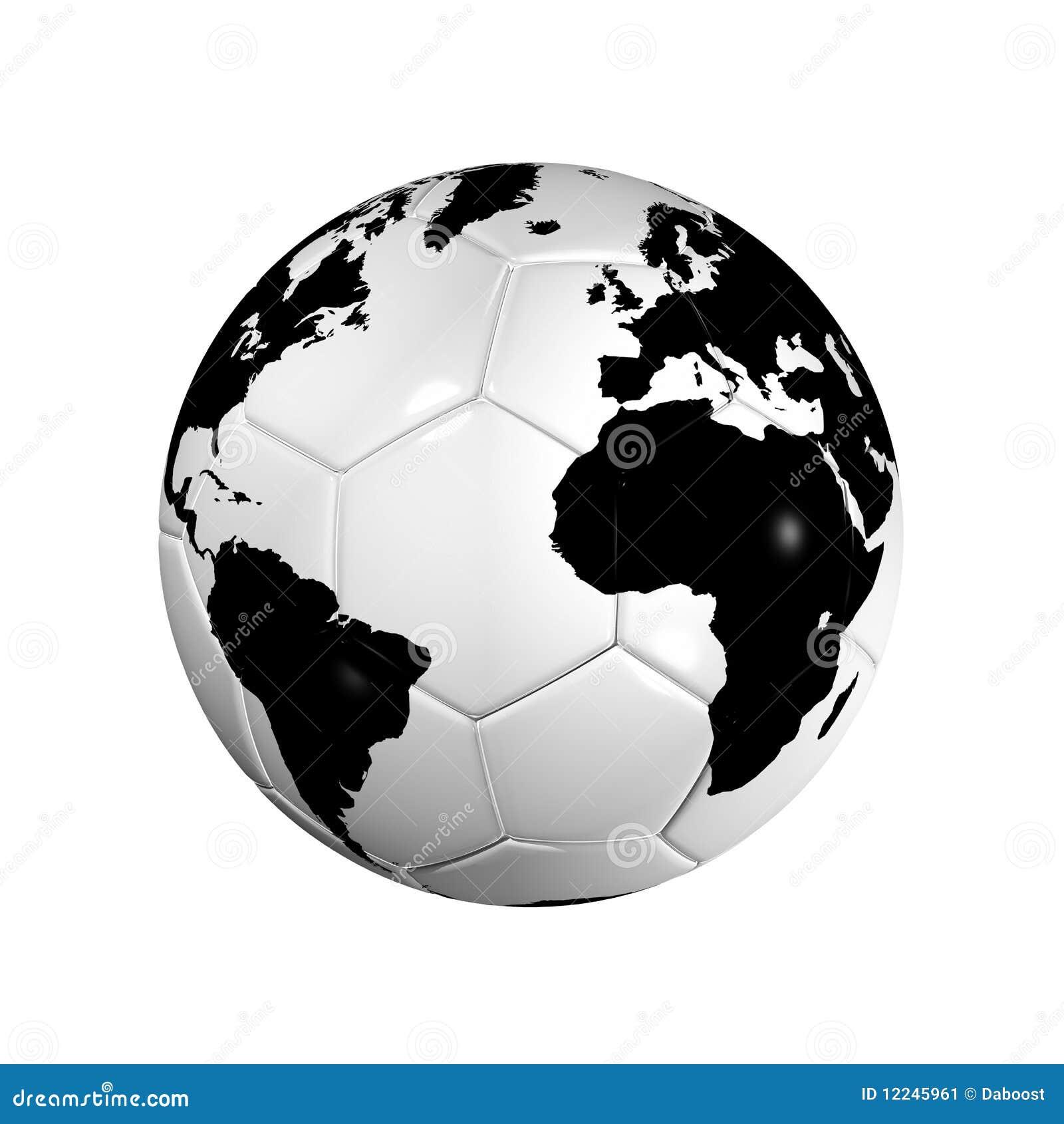 Globe du monde de bille du football du football