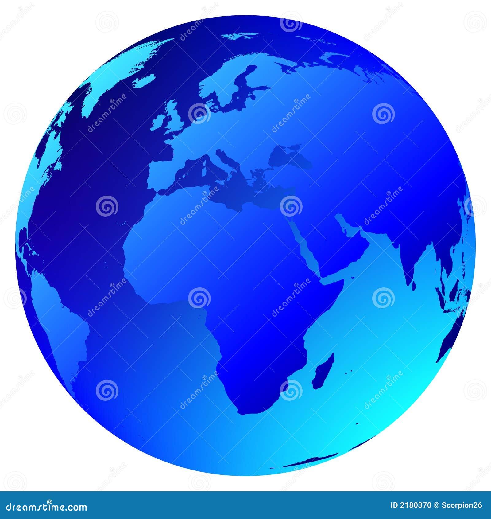 Globe du monde de vecteur