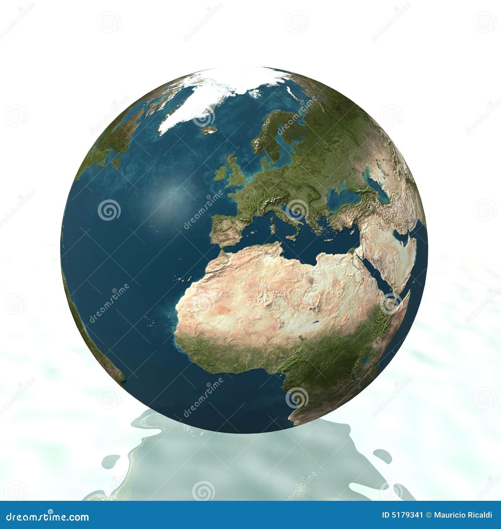 Globe du monde (l Europe)