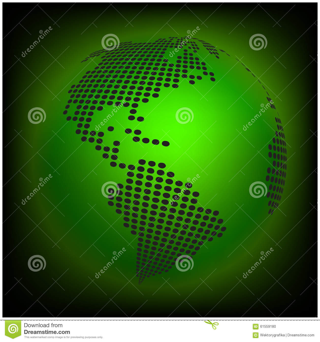 Earth globe world map of dots vector illustration stock vector globe earth world map abstract dotted vector background green wallpaper illustration stock photo gumiabroncs Image collections