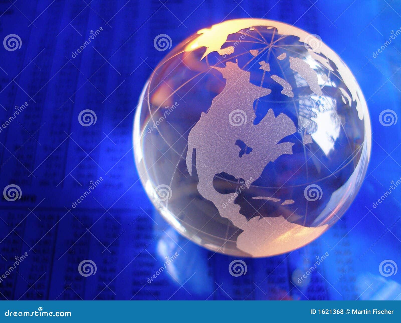 globe en verre bleu photo stock image du journal lumi re. Black Bedroom Furniture Sets. Home Design Ideas