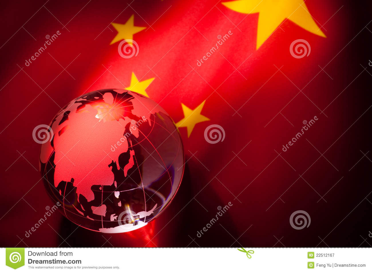 Globe et indicateur de la Chine