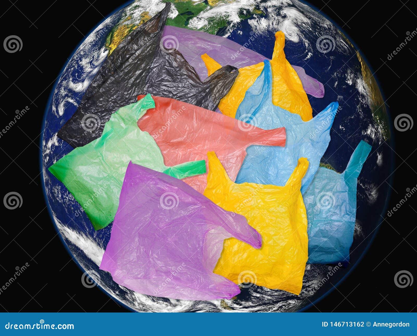 Globe et plastique