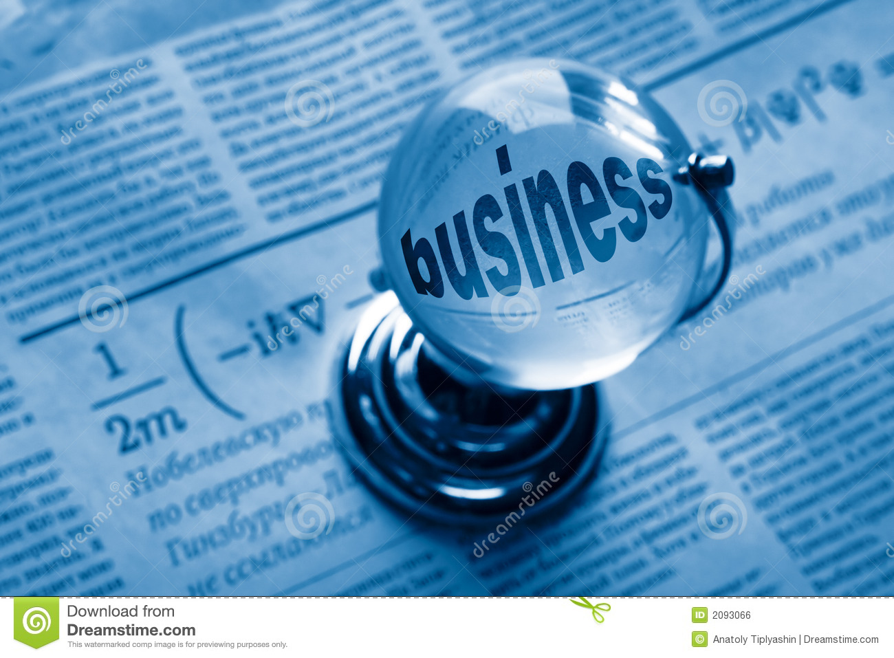 globe and formula of business royalty free stock image