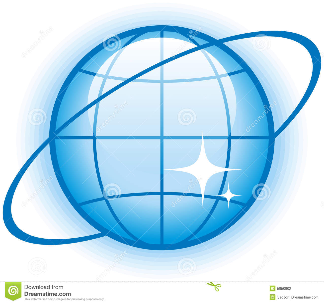 globe glossy vector icon stock vector illustration of glossy 5950902
