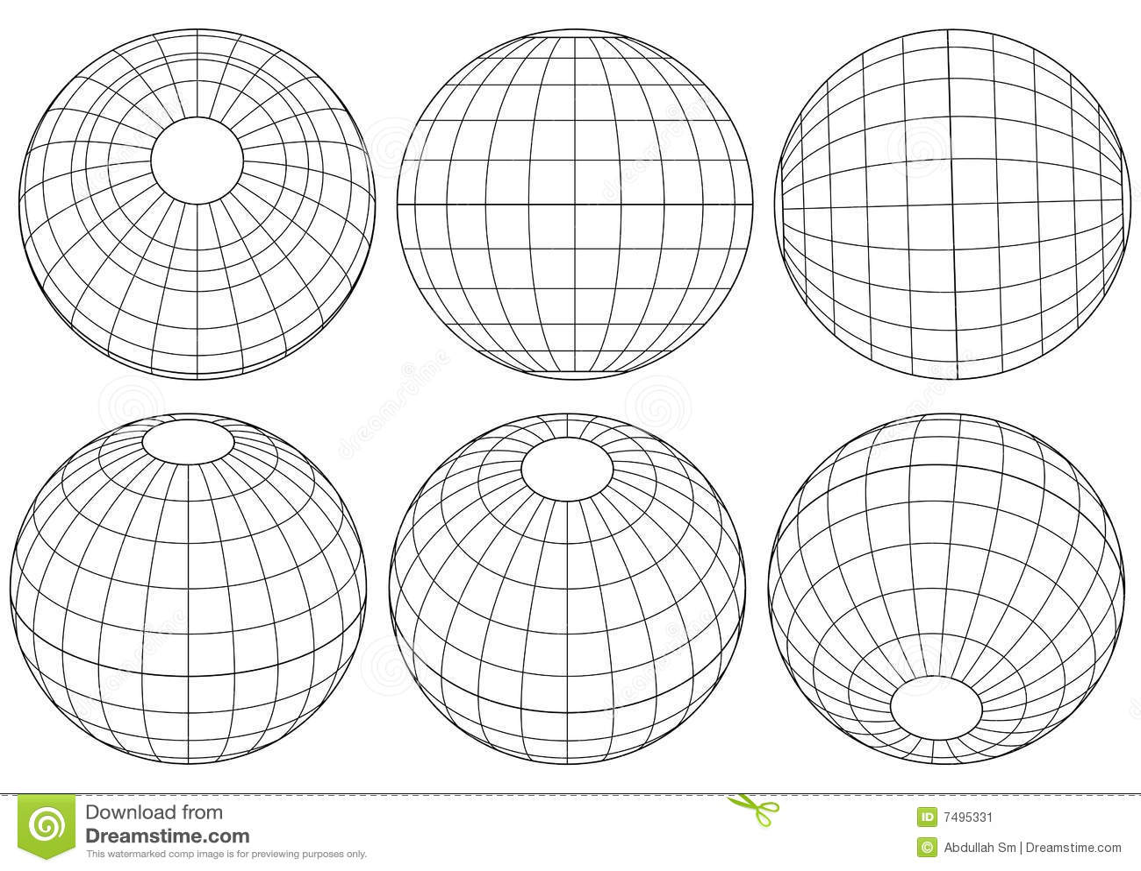 Globe grid - vector stock vector. Image of letter, blank ...