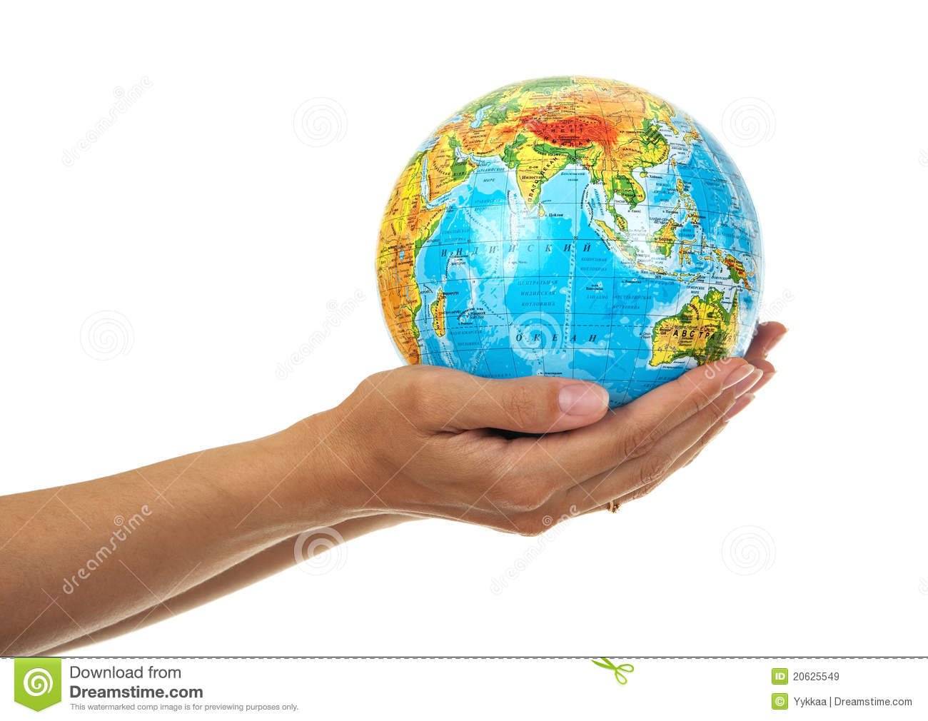 Globe in the hands