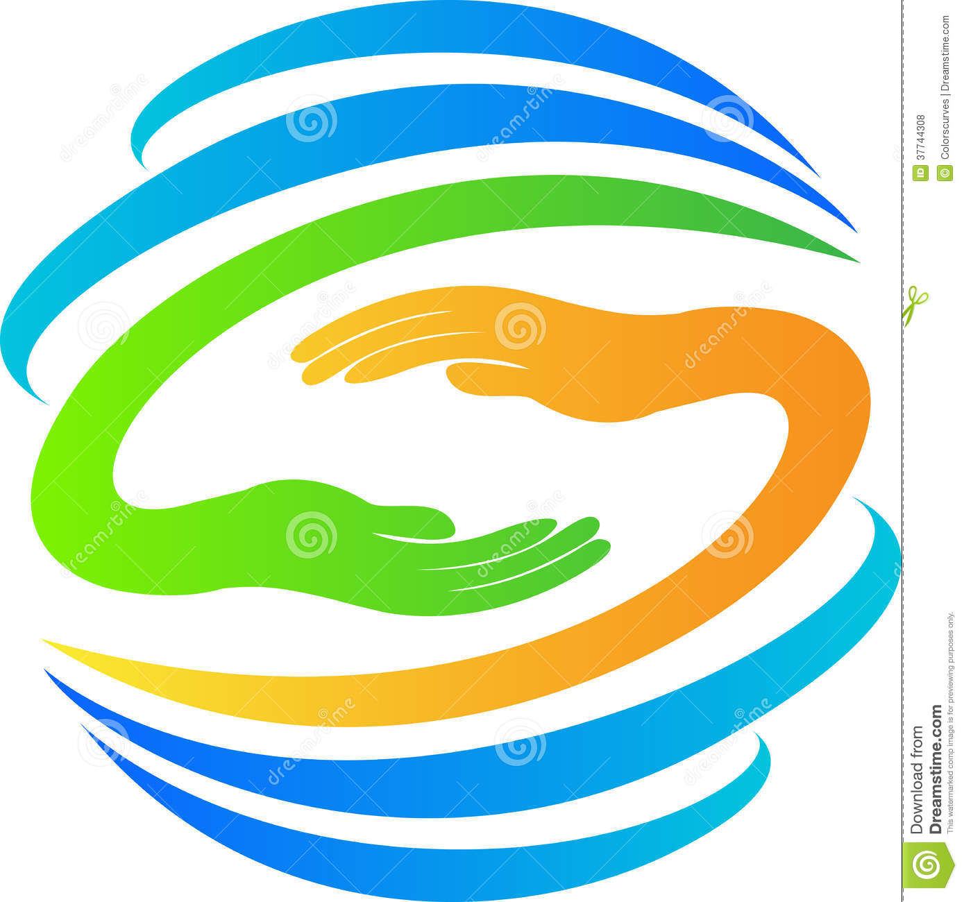 Globe with hands logo