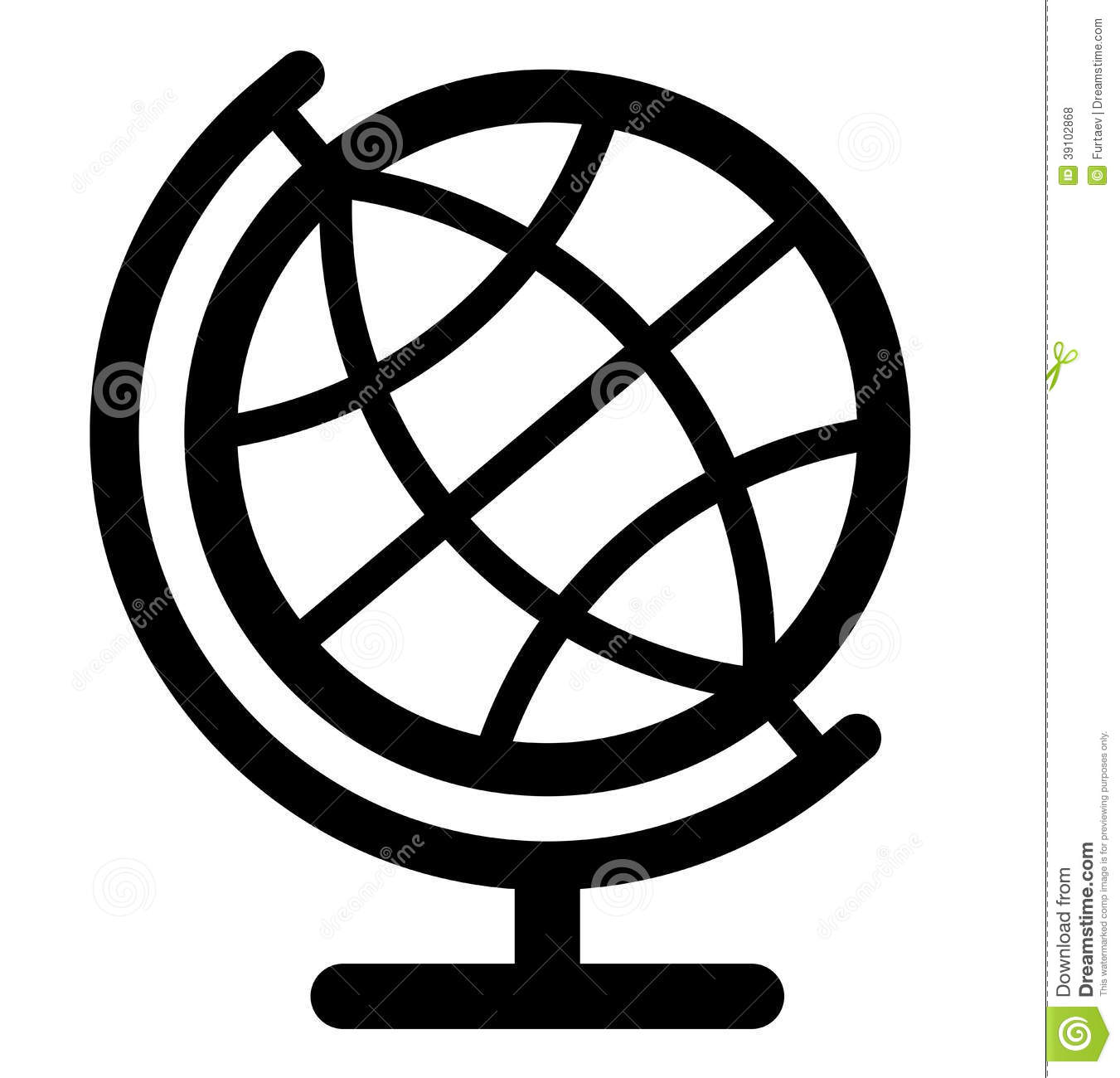 globe icon stock vector illustration of clipart icon 39102868 rh dreamstime com globe icon vector blue global icon vector