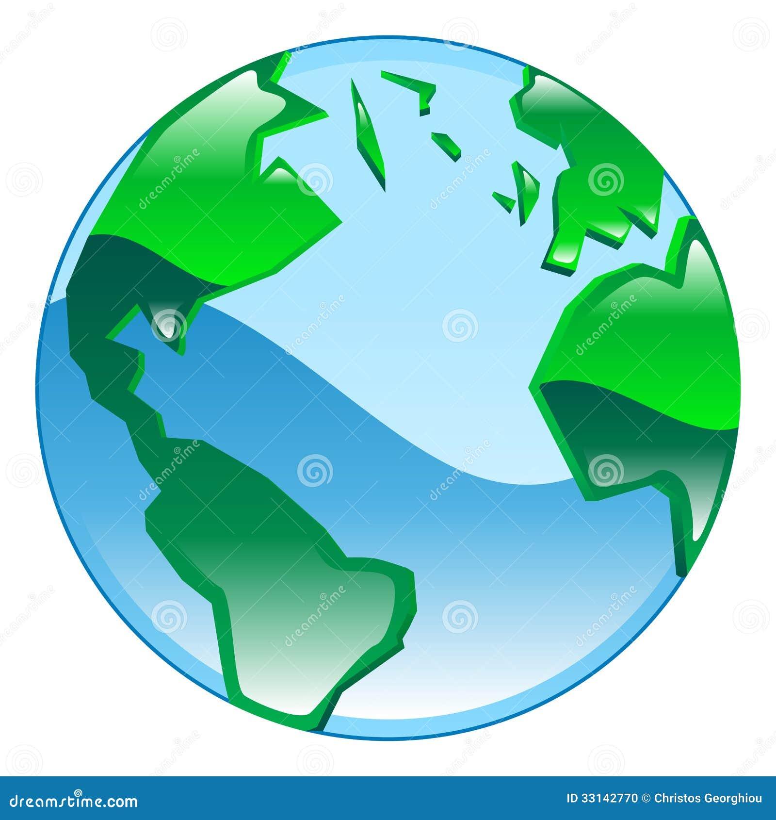 Globe Icon Clipart Illustration Stock Vector Image 33142770