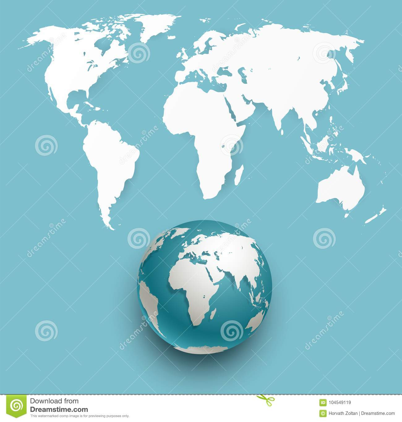 Vector globe and world map stock illustration illustration of download vector globe and world map stock illustration illustration of continent 104549119 gumiabroncs Image collections