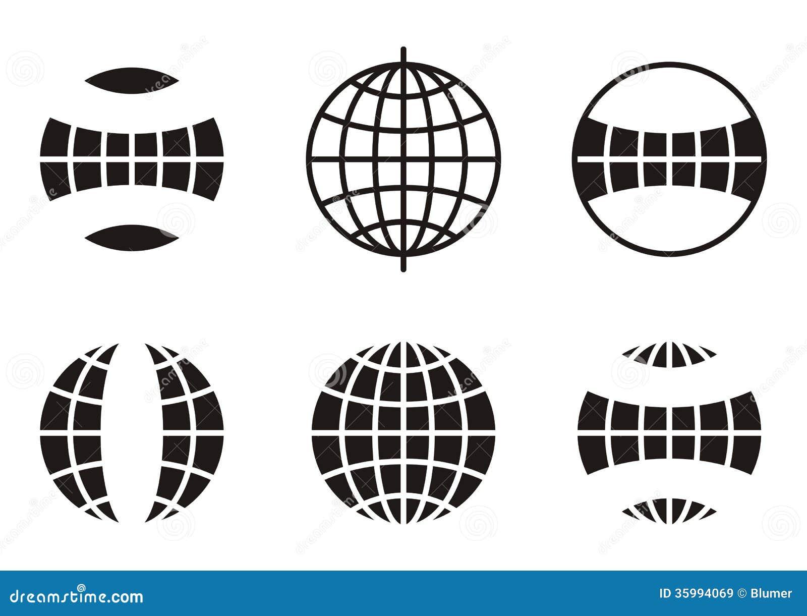 Globe icons stock vector illustration of application 35994069 globe icons publicscrutiny Choice Image