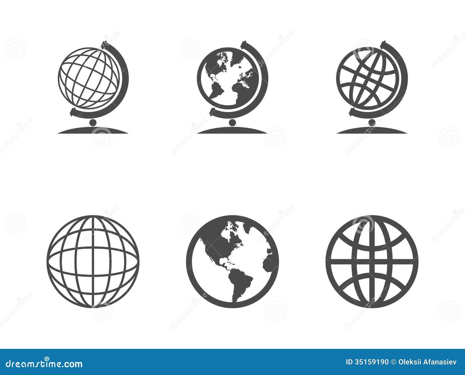 Globe icons stock vector illustration of computer europe 35159190 globe icons publicscrutiny Choice Image