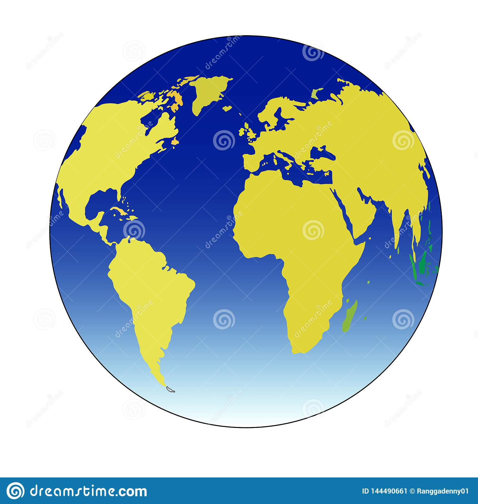 Globe illustration vector