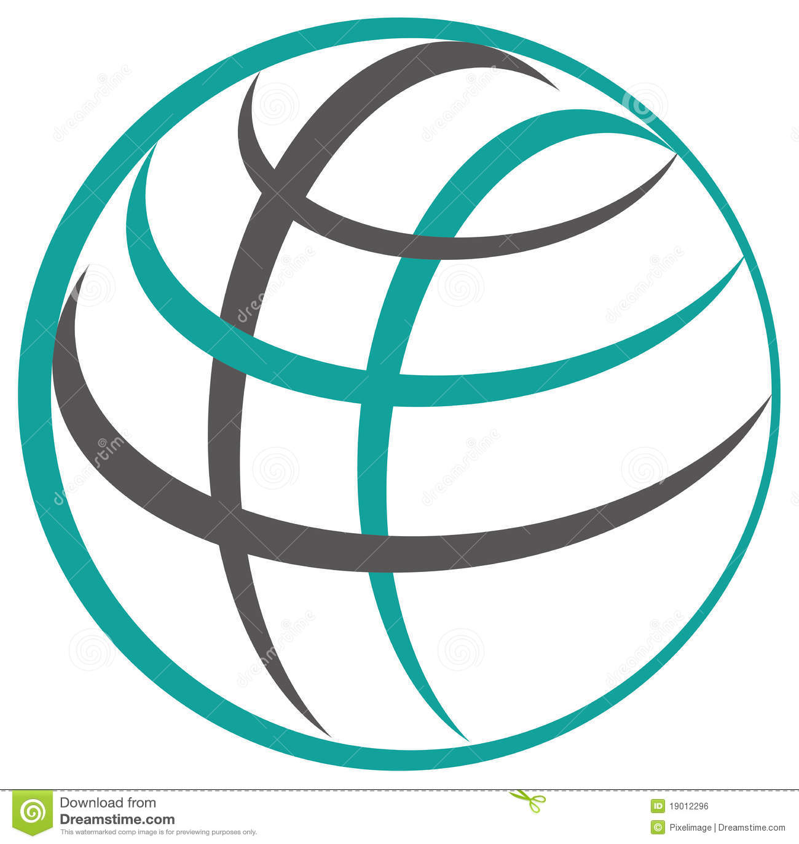 Dot Sphere Logo Template Globe Vector Icon:  Globe Logo Stock Illustration. Illustration Of Logotype