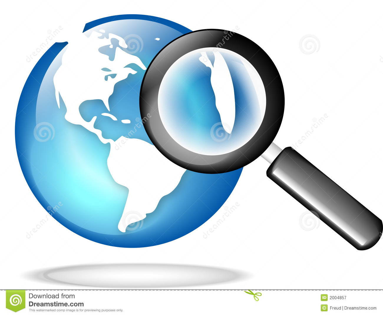 Find image globe with magnify glass stock illustration image of icon